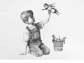 超級英雄換人當!神祕塗鴉客Banksy新作暖心獻給抗疫醫護人員