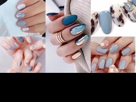 2021灰藍美甲色推薦,15款冷淡風美甲,多色暈染、鏡面金屬、漸層透明,每一款都讓妳氣質加分