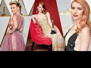 奧斯卡女星紅毯鬥豔誰贏了?這場顏值之戰誰最擦眼球
