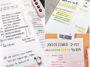 超強讀書計畫!跟著韓妞一起用「顏色分配學習法」,讀書不再痛苦目標通通GET!