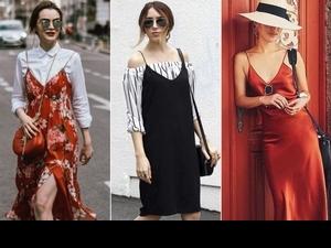 Slip Dress吊帶背心裙持續大熱,搭丹寧、搭白T各種完美穿搭請直接拷貝!
