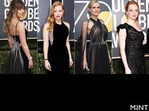 用良善和勇氣穿出氣場!人人都選黑禮服,75屆金球獎紅毯將永遠被熱搜