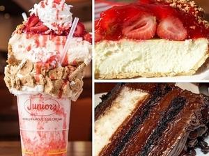 起司界的巨無霸!紐約Junior's餐廳的草莓起司蛋糕奶昔吃過人生才沒遺憾