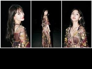 Angelababy楊穎身穿鏤空裙出席《奔跑嘉年華》,仙氣滿滿又性感嫵媚,網友:「曉明哥不管管嗎!」