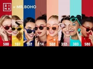 3INA x MR.BOHO推出超強聯名系列!把彩妝融入墨鏡鏡框色,今夏就用熱賣潮色 #114溫柔小姐姐、#500蕃茄紅 打造潮翻天吧 !