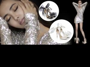 氣質加到滿!這雙Jimmy Choo巨大蝴蝶結搭上多層網紗跟鞋,就連蔡依林、碧昂絲通通淪陷
