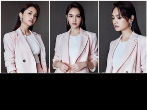 被楊丞琳撩到了!成套粉色西裝穿出時髦新高度