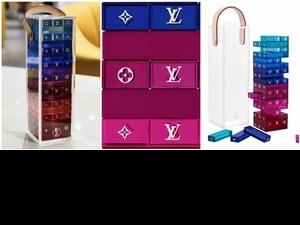 最狂桌遊現身!Louis Vuitton 推出豪奢版疊疊樂 每個透明積木上滿滿LV Logo