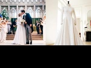 耗時640小時製作!神曲歌后艾麗高登身穿CHLOÉ 訂製婚紗,精美細工增添滿滿幸福光彩
