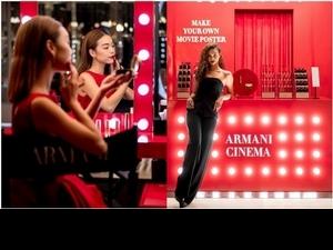 不限消費金額就能當電影女主角!ARMANI CINEMA亞曼尼精品美妝全球巡迴快閃店1/17台灣見!