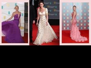 2020 BAFTA凱特王妃舊衣新穿美翻全場!莎莉·賽隆、「黑寡婦」史嘉蕾喬韓森低胸、開岔禮服火辣全開