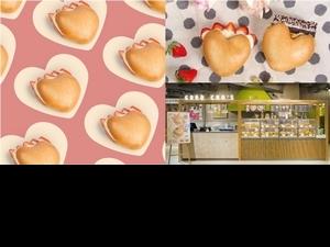 「好丘」台北京站開幕!獨家推出愛心造型的「開心貝果」搭配草莓生乳酪、花生布朗尼2種口味超療癒