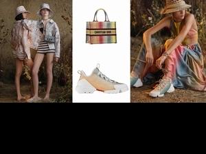 慵懶一點也沒有不好!Dior夏季膠囊系列:漸層色球鞋、BOOK彩虹托特包 邀你感受最愜意之旅