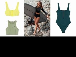 莫蘭迪綠的泳裝太時髦啦!H&M攜手衝浪品牌Women + Waves推泳裝系列6/4登場