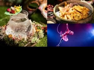 全台首間互動式劇場酒吧「LORE Taipei」集結高空吊環表演、6款夢幻調酒餐點,帶來極致五感體驗