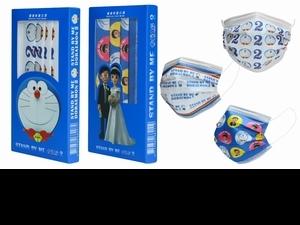 準備開搶!限量哆啦A夢電影聯名口罩「經典哆啦A夢頭像款、大雄靜香婚紗款」必收藏!