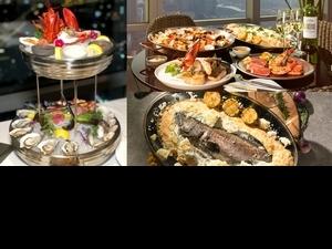 微風信義高空海鮮餐廳「SEA TO SKY」必吃菜色推薦!新鮮現煮海鮮、巨大海豚藍絲絨蛋糕,還有信義區百萬夜景快打卡