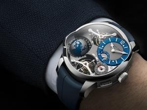 鈦金屬與藍色共舞——Greubel Forsey〈世界時區四體陀飛輪〉新質新色限量錶上市