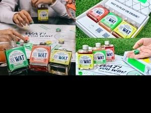 時髦瓶裝雞尾酒「WAT復古桌遊禮盒」限量發售中!3款微醺特色調酒、撞色蛇棋桌遊,即日起全家獨家預購