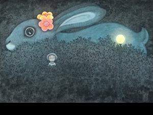 幾米《畫室裡的呢喃》誠品畫廊限期登場!首度展出未曝光作品、《毛毛兔》系列原作等共90件療癒之作