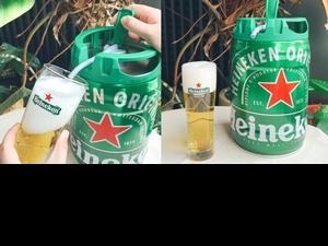 現打生啤任你喝!海尼根「眾量桶」5公升暢飲量、開封保鮮30天,為居家防疫乾一杯