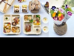 台中米其林「鹽之華」外帶法式餐盒推薦!2款頂級雙主餐、花束生菜沙拉絕美又夢幻