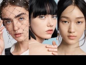 就像希臘女神降臨啊,Dior 2022度假系列Cruise時裝秀,模特兒深邃有神藕粉眼妝,妝點上白色珍珠,美到讓人屏息