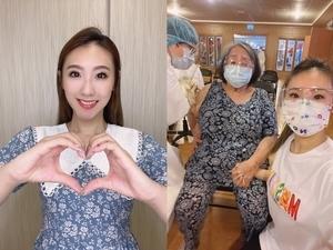 「嬤寶」謝金晶陪打疫苗全程牽牢牢!80歲心臟病阿嬤自備法寶讓醫護笑了