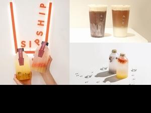 白淨系手搖「SIPSHIP緒緒」品牌概念店插旗大安! 首推夏日在地水果漸層氣泡飲 開幕限時2天全品項買一送一!
