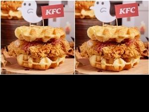肯德基「比利時鬆餅咔啦雞腿堡」限時限量開賣!格子鬆餅+酥脆炸雞絕對讓你吃到吮指,炸雞控通通來吃