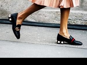 鞋櫃就差這一雙!GUCCI 樂福鞋鑲嵌珍珠美呆了