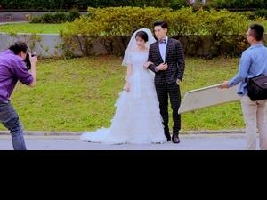 邵雨薇穿婚紗驚呆張立昂 嚮往婚姻搶先預支幸福