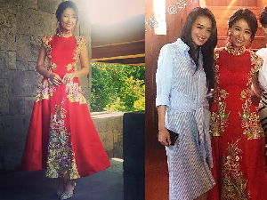 林心如蕾絲婚鞋好復古!搭上刺繡紅旗袍光是迎娶行頭就近千萬