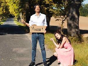 H&M婚紗配Adidas聯名鞋 這樣婚紗拍的好舒淇!彭于晏:不用再做煙幕彈了