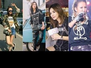 運動風太一般!Ella、劉雯、李玟coco都用MOSCHINO衛衣搭出超完美減齡比例