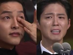 「雙宋CP」KBS奪大賞 朴寶劍哽咽致詞宋仲基狂擦淚