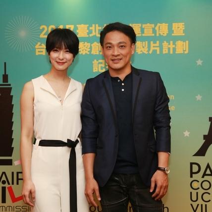 賴雅妍優雅亮相香港影視節 是元介傳遞正能量