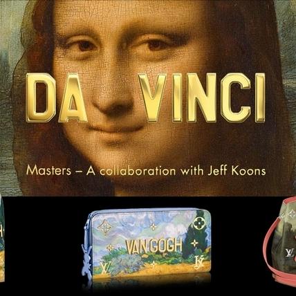 將蒙娜麗莎畫作揹上身!LV攜手當代最火藝術家 Jeff Koons 開啟跨界合作