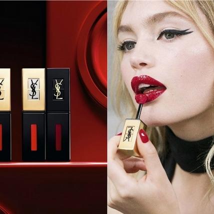 YSL「奢華緞面鏡光唇釉」新色6月上市,一抹水潤保濕、持色持妝有氣場、唇紋甚至也消失不見!