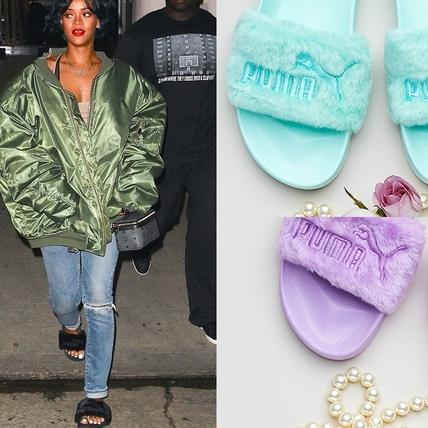 夏天穿一點都不違和!蕾哈娜 X PUMA絨毛拖鞋放大絕馬卡龍新色每雙都想敗