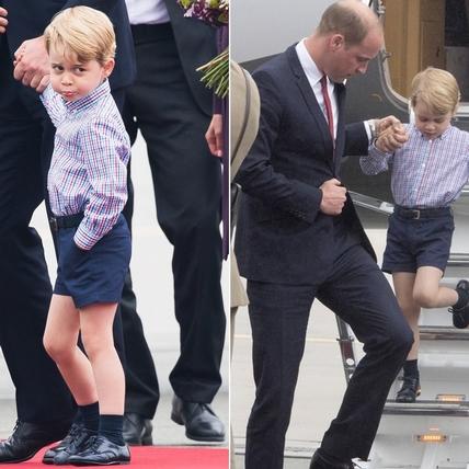 果然是王者的霸氣!喬治王子被老爸一唸,秒變嘟嘟嘴萌翻天