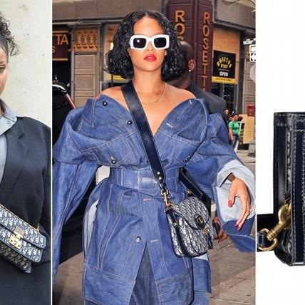 蕾哈娜見法國第一夫人選的是這款包!一個logo竟要9700條線層層堆疊,美的實在太逼人!
