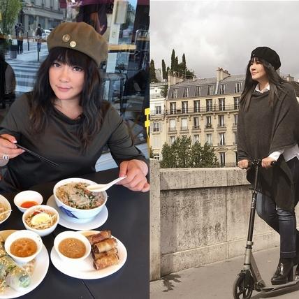 唐綺陽巴黎上演失速列車 美食當前不甩法國佬