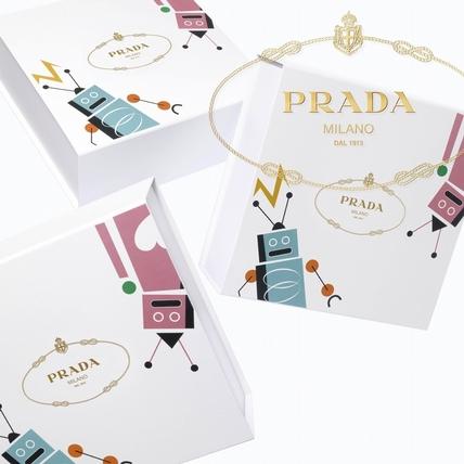 女孩們最愛的機器人炫風來襲  吹來Prada另類童趣的耶誕佳節