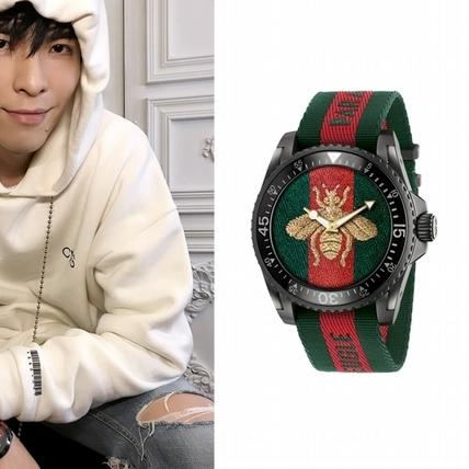 蕭敬騰戴上金蜜蜂GUCCI腕錶帥的好招搖
