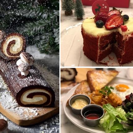 巧克力控注意!貳樓耶誕法式樹輪蛋糕捲,55%甘納許巧克力讓你一吃停不了