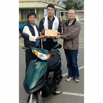 黃榮墩【好人周記】災區報告!第一台摩托車今天過戶