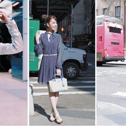最美風景是她!陳庭妮身穿MICHAEL Michael Kors春季系列、上演紐約春日街拍