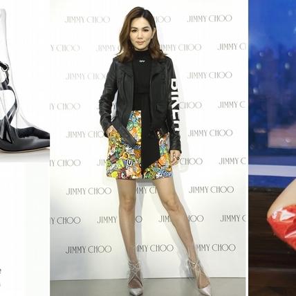 ELLA、呸姊大秀火辣美腿!輪番穿上Jimmy Choo x OFF-White宛如現代版「公主玻璃鞋」