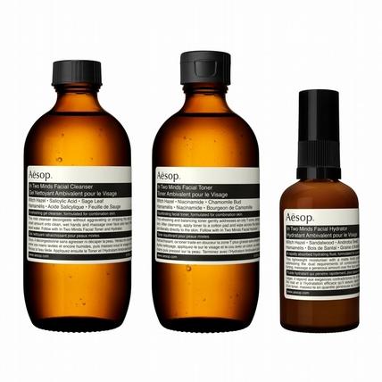 中油性混合性肌膚、男生女生通通都可以一起用的簡約保養品 Aesop 二重奏系列